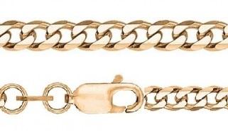 Мужская золотая цепочка. . Панцирное плетение. . 55см